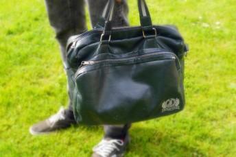 8-) Washed Leather Messenger