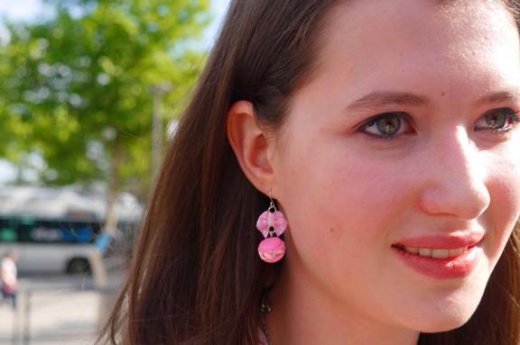 <3 macaroon earrings